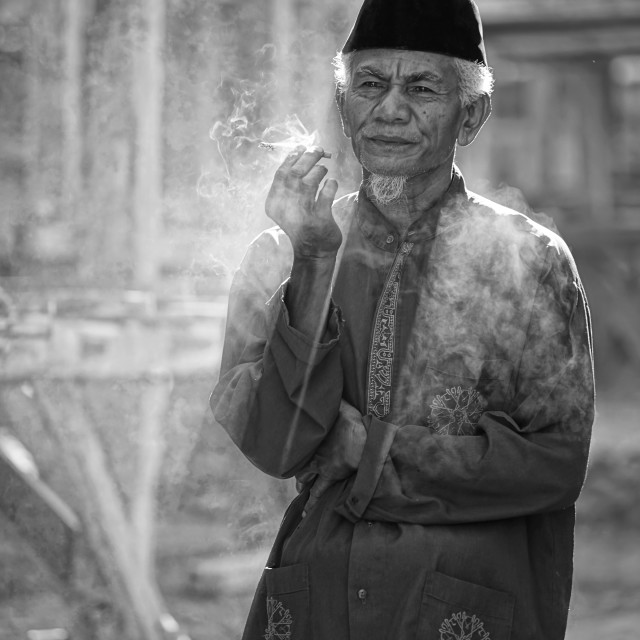 """The Old Smoker"" stock image"