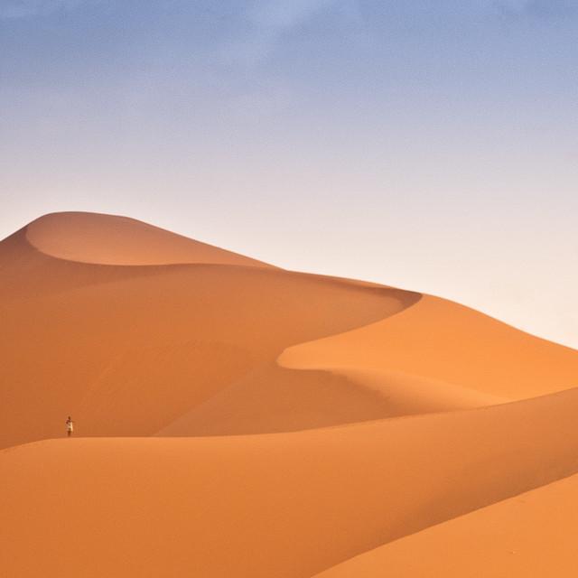 """""""Sahara Sand Dune, Morocco"""" stock image"""