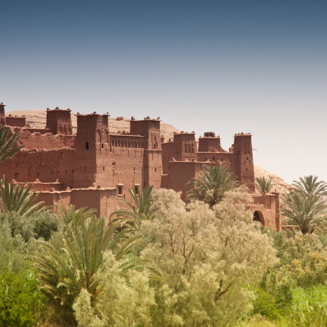 """Moroccan Kasbah / Castle."" stock image"
