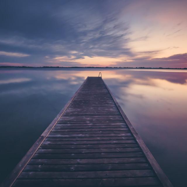 """""""Keep it simple (at sunrise)"""" stock image"""