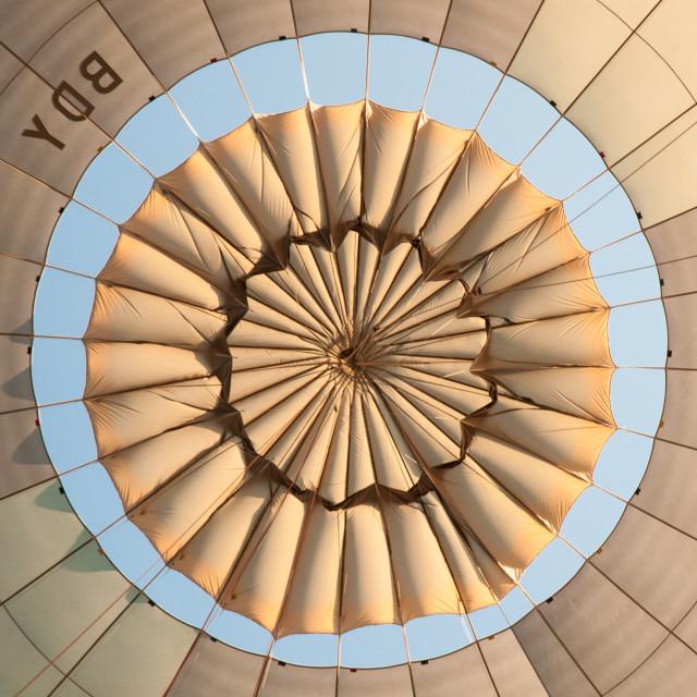 """Inside a hot air balloon."" stock image"