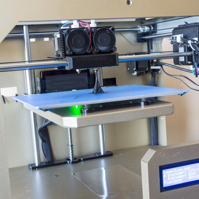 """3D printer"" stock image"