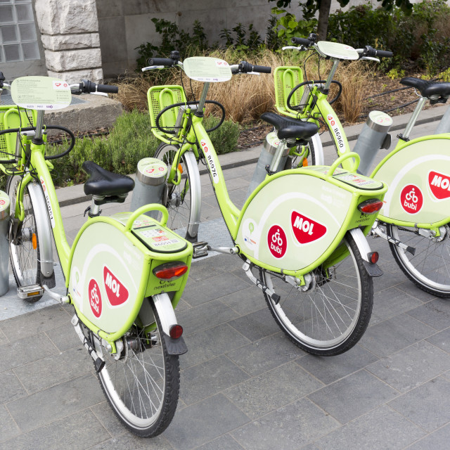 """Budapest bicycle sharing system"" stock image"