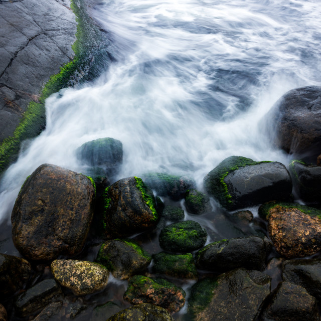 """""""Water flowing over rocks"""" stock image"""