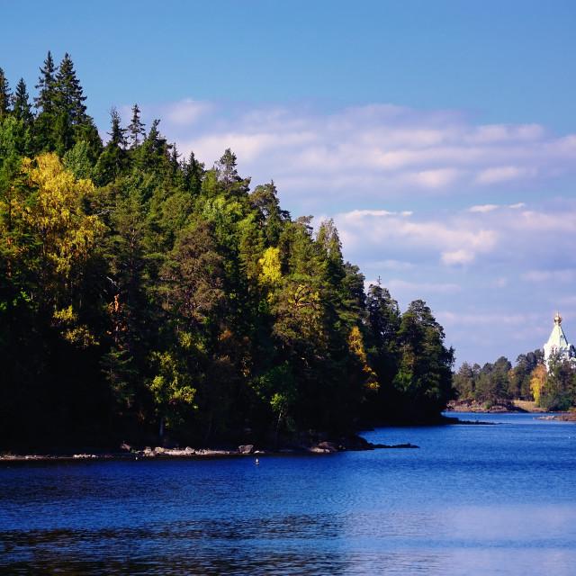 """Valaam Island in Karelia, Russia"" stock image"