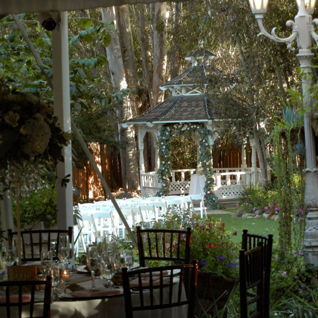 """""""Outdoor reception with gazebo"""" stock image"""