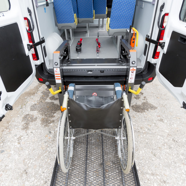 """Minibus physically disabled"" stock image"