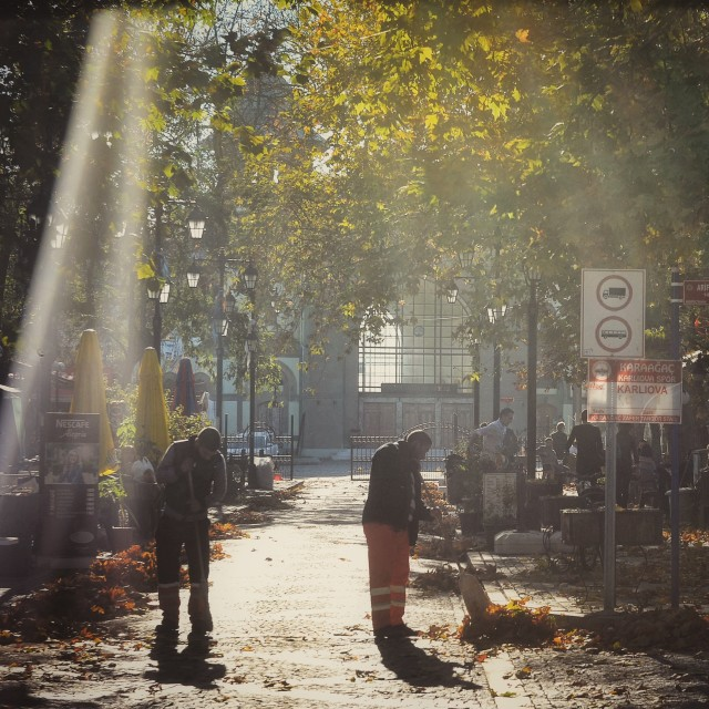 """""""Street afternoon"""" stock image"""
