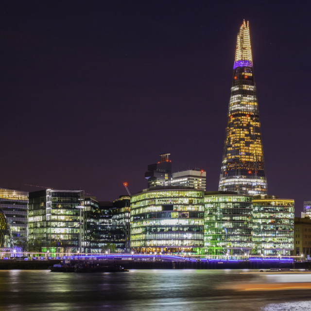 """""""London Thames by Night"""" stock image"""