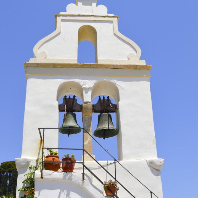 """Old Greek church bells"" stock image"