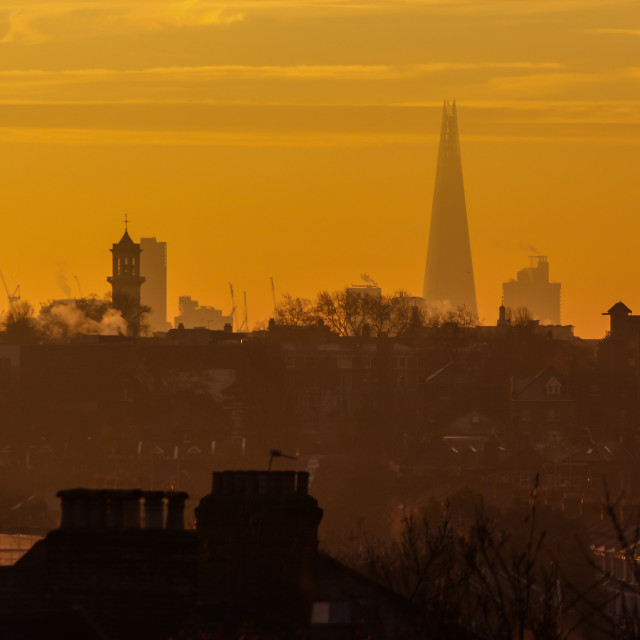 """Shard Over Rooftops"" stock image"