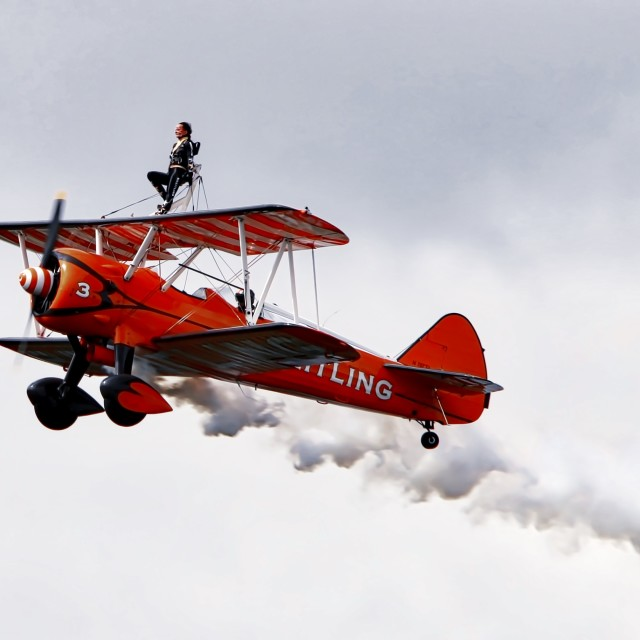 """Breitling Wing Walker"" stock image"