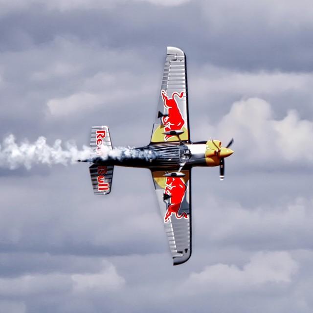 """Red Bull Aerobatics"" stock image"