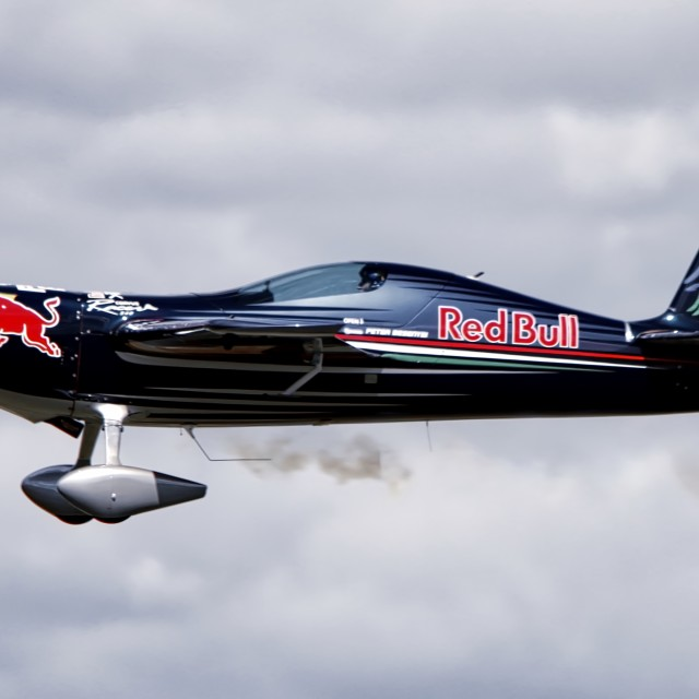 """Red Bull Aircraft"" stock image"