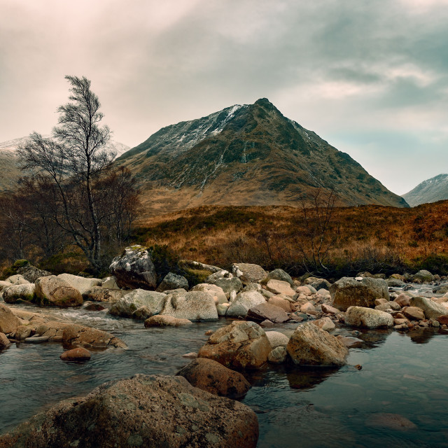 """River Coupall, Scotland"" stock image"
