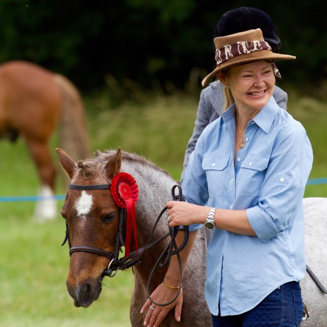 """""""happy horse owner"""" stock image"""