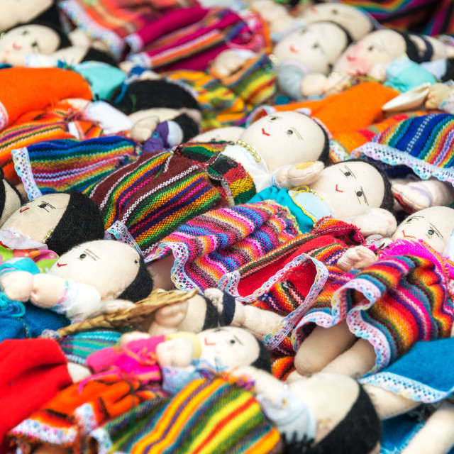 """Souvenir Dolls in Otavalo"" stock image"