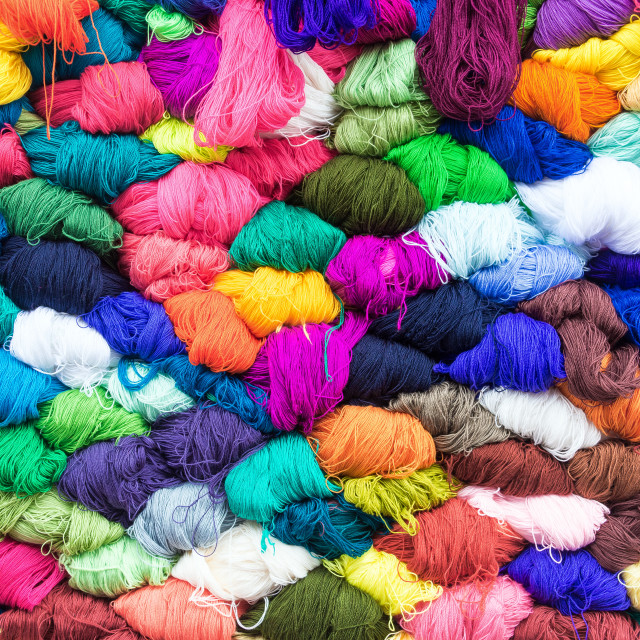 """Colorful Yarn"" stock image"