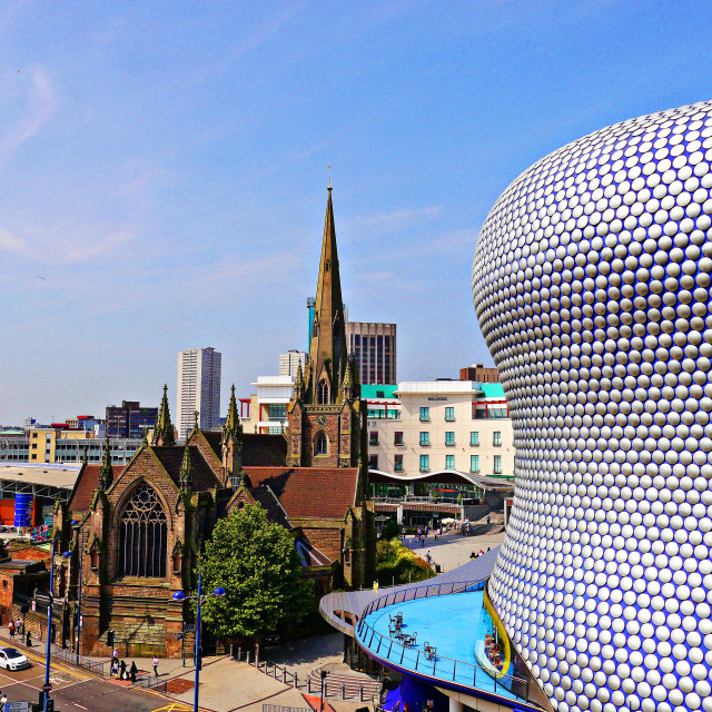 """""""St Martins in the Bullring"""" stock image"""