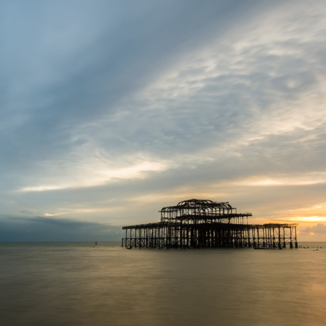 """West Pier"" stock image"