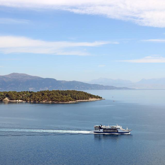 """ferry boat Corfu island Greece"" stock image"