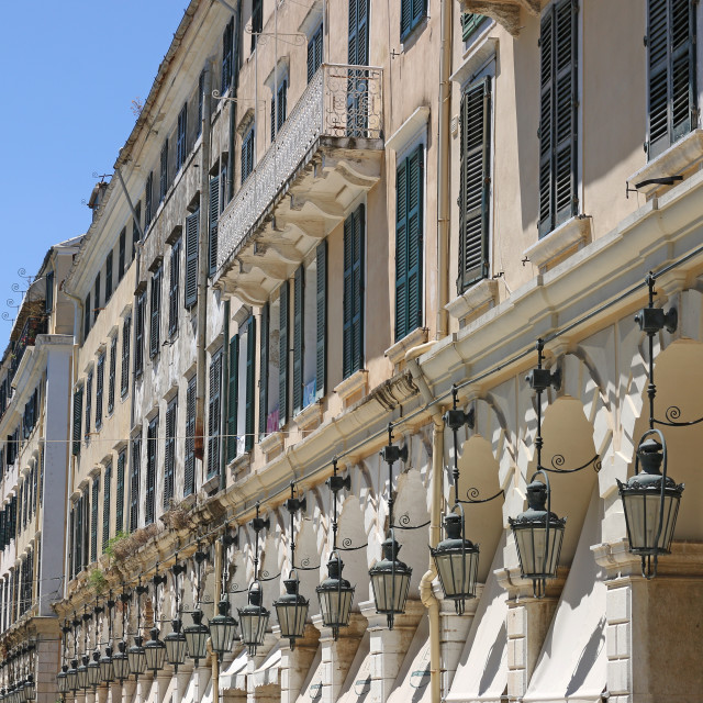 """Liston square old Corfu town Greece"" stock image"