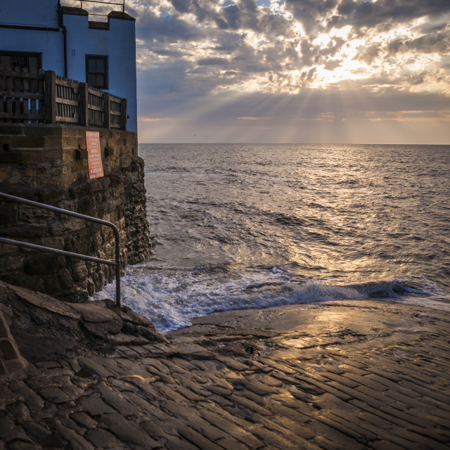 """""""High tide, early morning"""" stock image"""