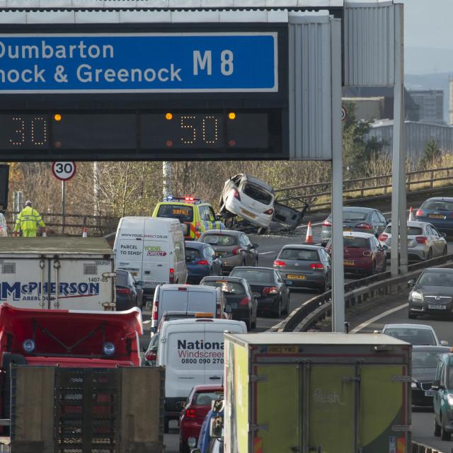 """Crash M8 Glasgow"" stock image"
