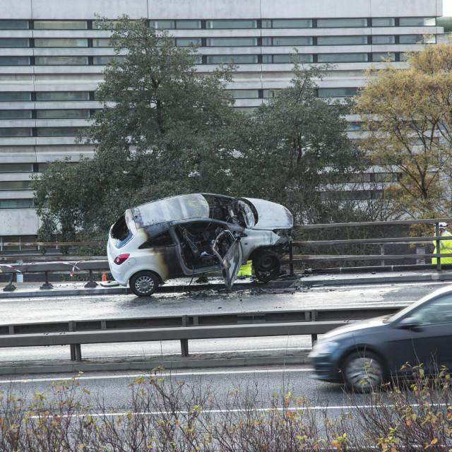 """""""Accident M8 Glasgow"""" stock image"""