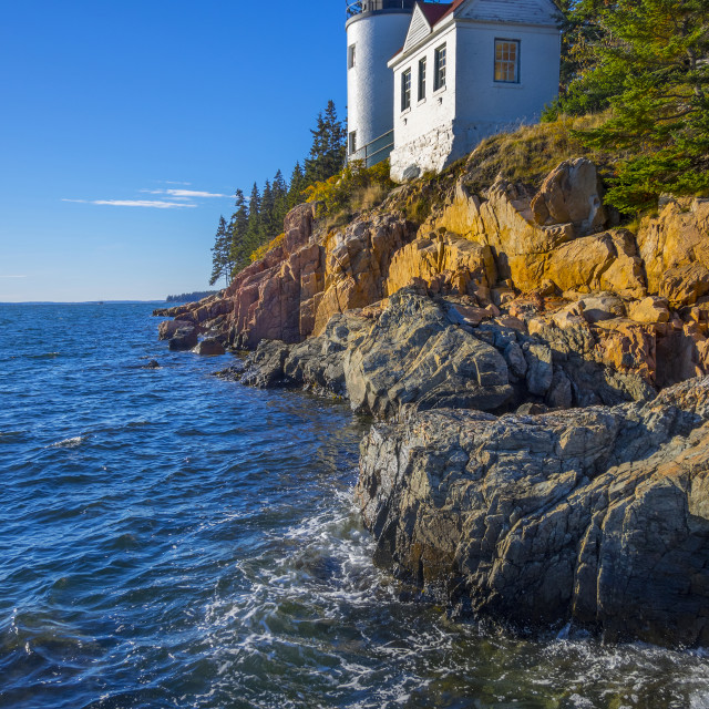 """Bass Harbor Head Lighthouse, Maine"" stock image"