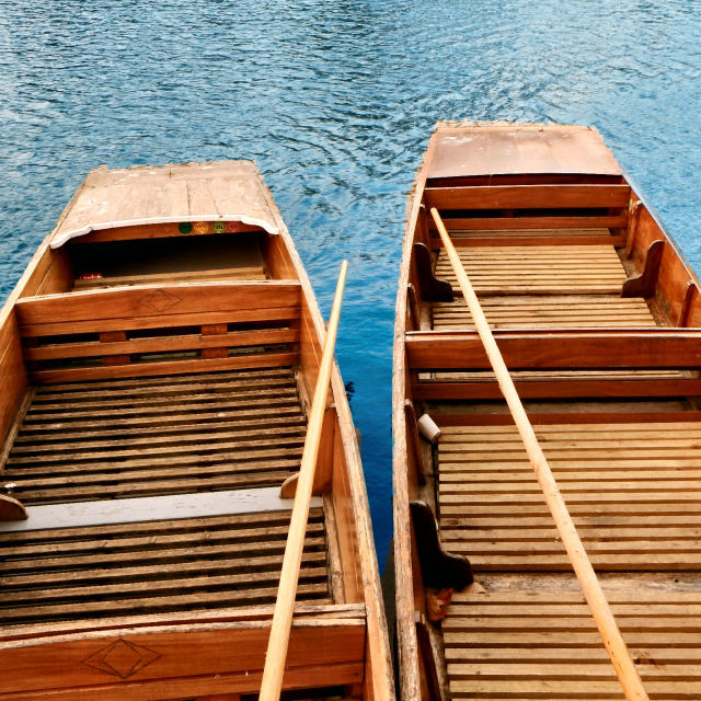 """Punts on the River Cam"" stock image"