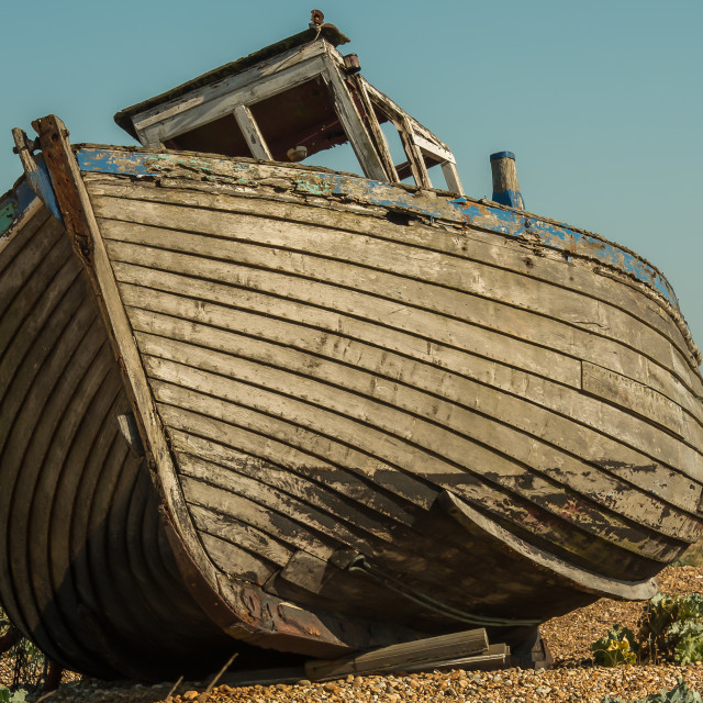 """""""Dungeness Boat Graveyard"""" stock image"""