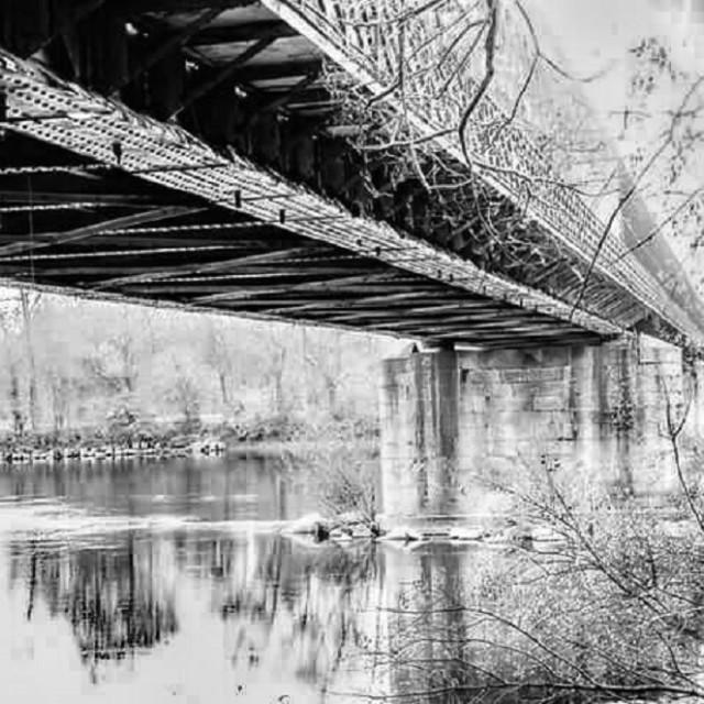 """the bridge in BW"" stock image"