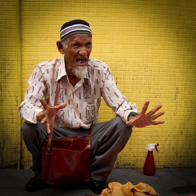 """""""Malaysian Street Vendor"""" stock image"""