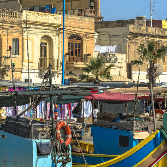 """Marsaxlokk fishing village"" stock image"