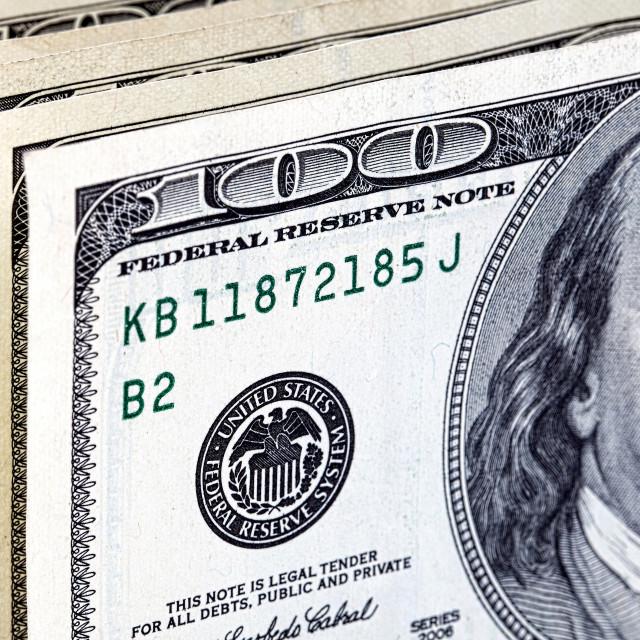 """American dollars"" stock image"