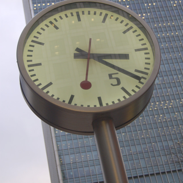 """Canada Square Clock"" stock image"