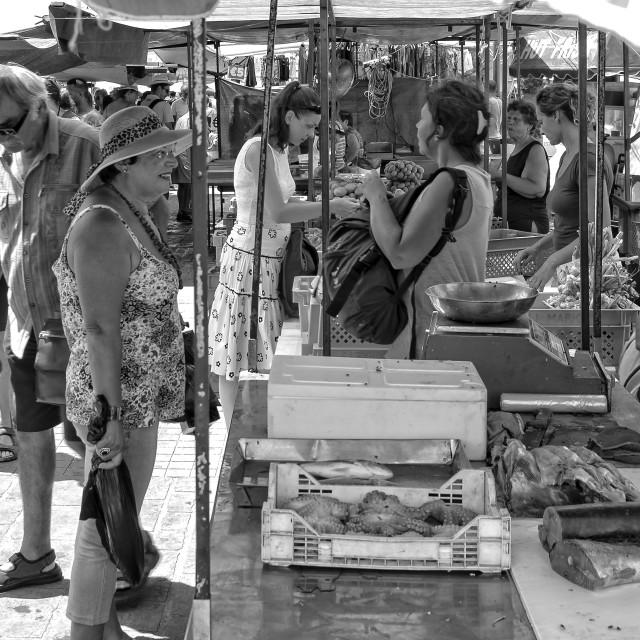 """Marsaxlokk market"" stock image"
