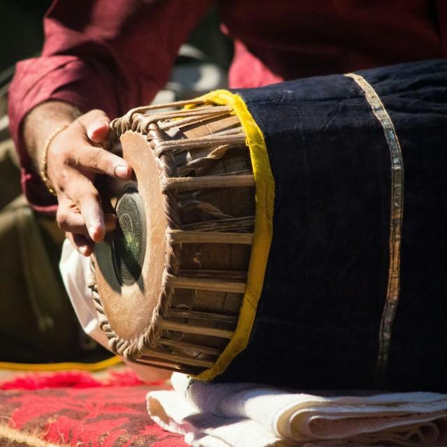 """Indian Classical music instrument (mridangam)"" stock image"