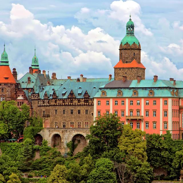 """Castle Ksiaz in Walbrzych"" stock image"