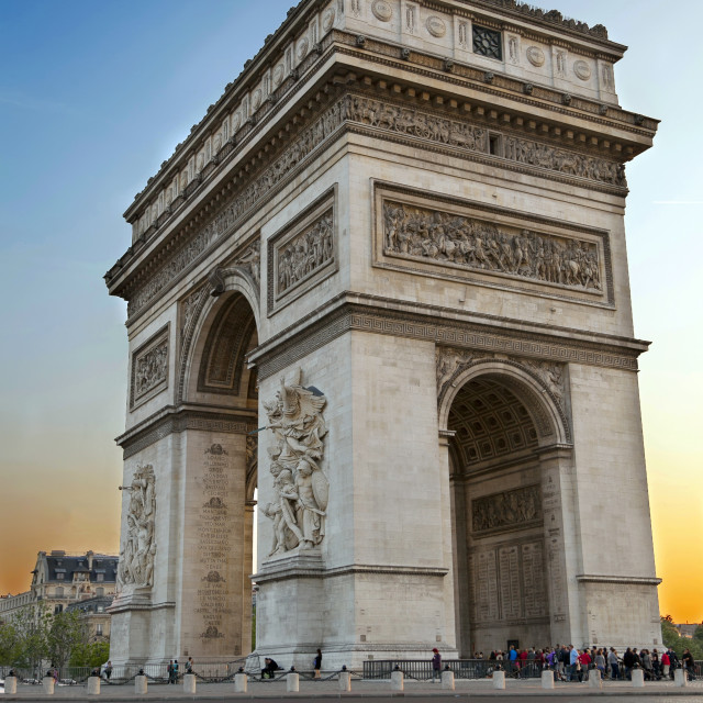 """Arc de Triumph, in Paris"" stock image"