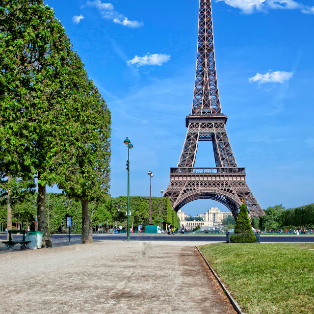 """""""The Eiffel Tower in Paris"""" stock image"""