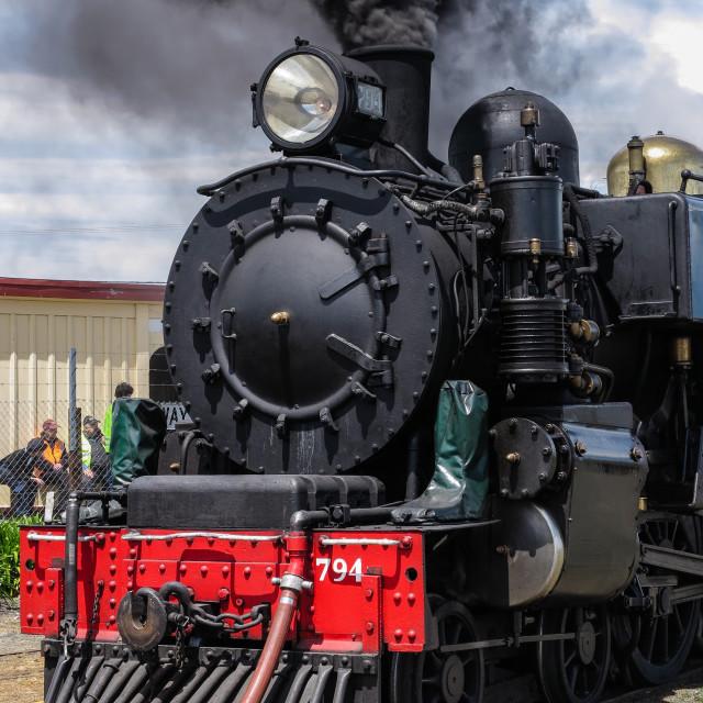"""Wab Class locomotive"" stock image"