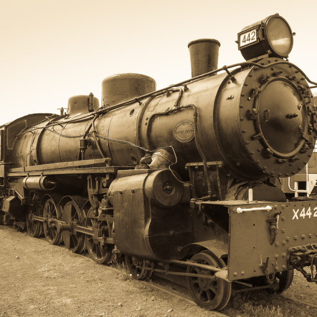 """vintage steam engine"" stock image"