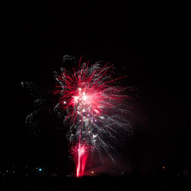 """Big red firework burst"" stock image"