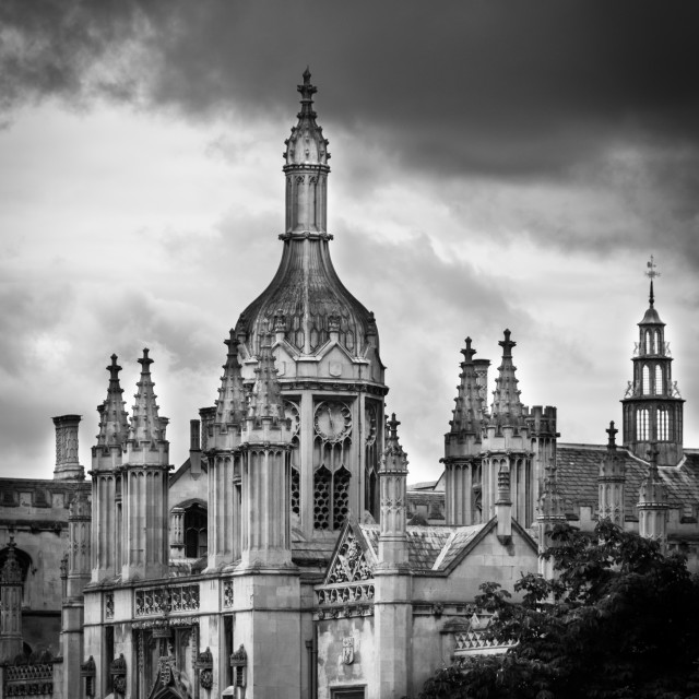 """King's College Gatehouse & Screen"" stock image"