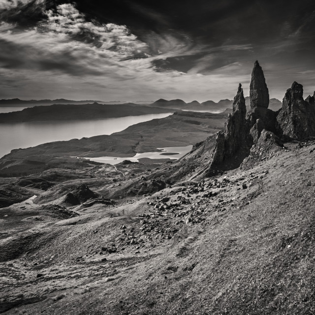 """The Old Man of Storr"" stock image"