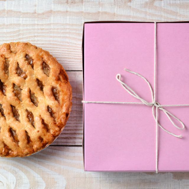 """Apple Pie and Bakery Box"" stock image"