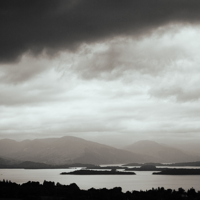 """""""View from Duncryne Hill"""" stock image"""