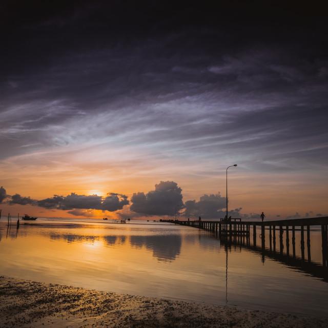 """Peaceful Sunrise at Phu Quoc island"" stock image"
